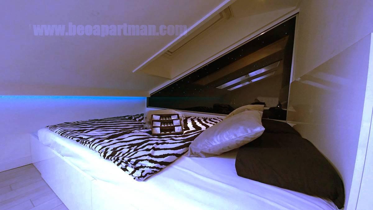 krevet spa apartman na Novom Beogradu