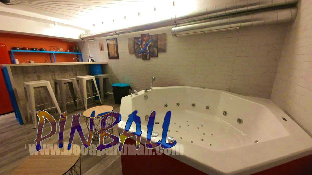 jacuzzi close up party apartment in Belgrade PINBALL