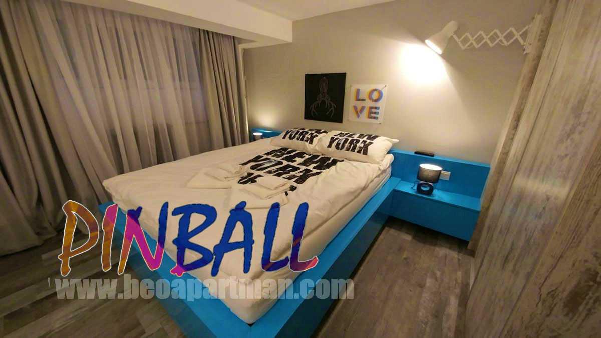 bedroom party apartment in Belgrade PINBALL
