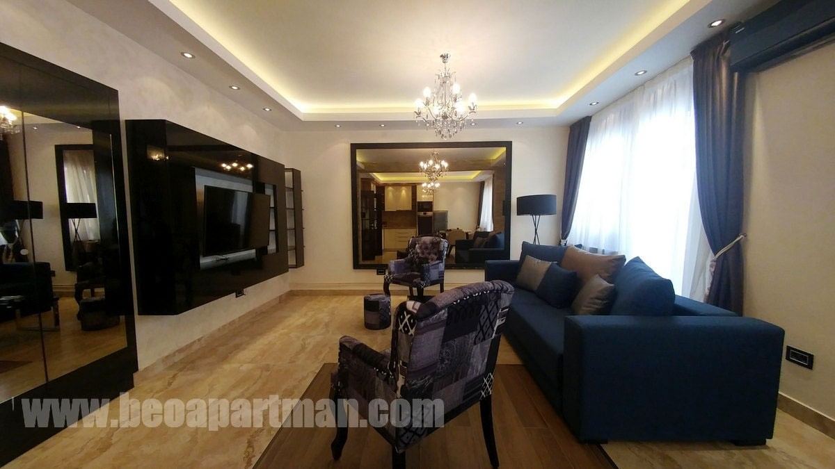 living room HUA HUA luxury apartment Belgrade