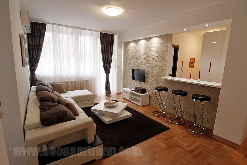 living room sofa bar PESIDENT apartment downtown Belgrade