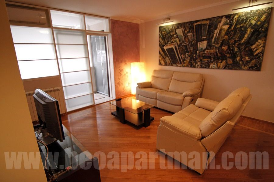 PLATEAU apartment Belgrade. living room