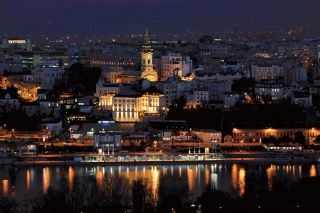 Belgrade at night taken from the left bak of Sava river