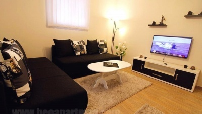 living room MITROS budget accommodation Belgrade
