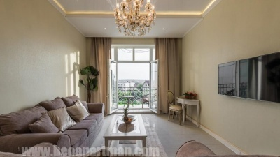 Living room and balcony ROMANCE luxurious apartment Belgrade short term