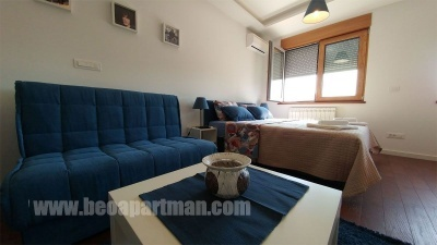 couch and bed ELEMENT self-catering apartment block A