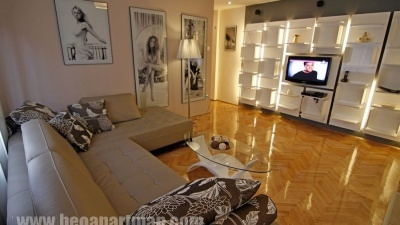 meagic apartment Belgrade city center, two bedrooms, garage,