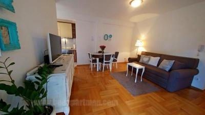 TIRKIZ apartman Beograd, dnevna soba,rustika
