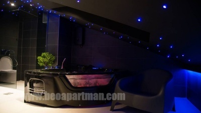 sauna and jacuzzi HONEY apartment New Belgrade